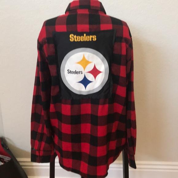 447ca243 yago Shirts | Steelers Upcycled Flannel Shirt Unisex Large | Poshmark